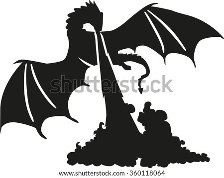 cute red fire dragon vector illustration art male models