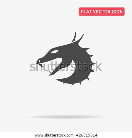 Dragon icon. Vector concept illustration for design. - stock vector