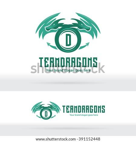 Dragon Logo, Dragon Sign, Dragon Identity, Team Mascot - stock vector