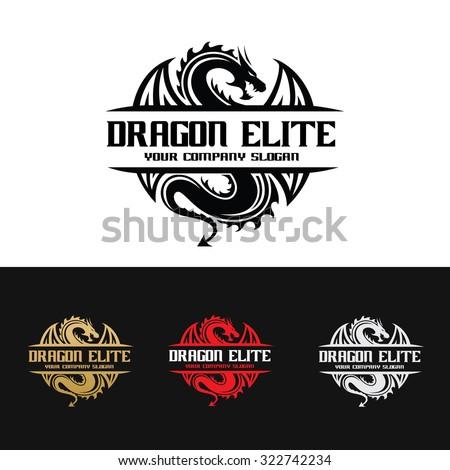 Dragon logo,Dragon,Vector Logo Template - stock vector