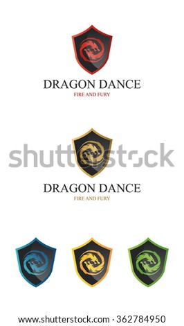 Dragon Shield Logo If you are looking for a good shield logo , Dragons Dance  Logo is an excellent logo template suitable for your company. - stock vector