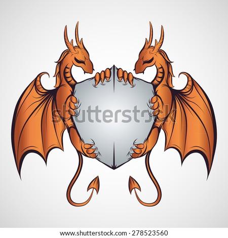 Dragon sign - vector illustration - stock vector