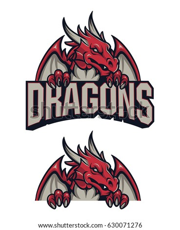 dragon sport logo stock vector 630071276 shutterstock