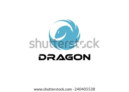 Dragon stylized  - stock vector