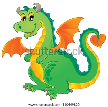Dragon theme image 1 - vector illustration. - stock vector