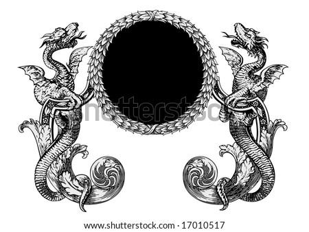 dragons vector - stock vector