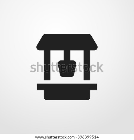 draw-well icon - stock vector