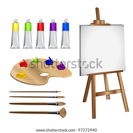 Drawing accessories - stock vector