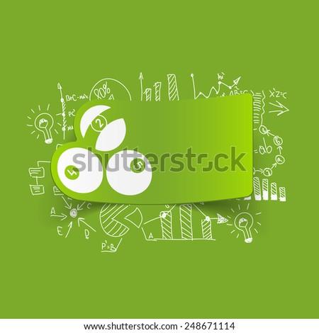 Drawing business formulas: billiards - stock vector