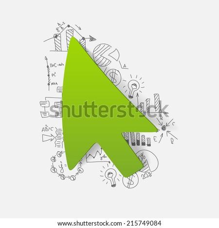 Drawing business formulas: cursor - stock vector