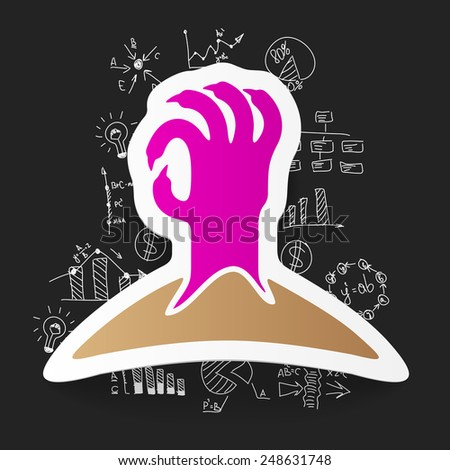 Drawing business formulas: hand - stock vector