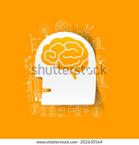 Drawing business formulas: head - stock vector