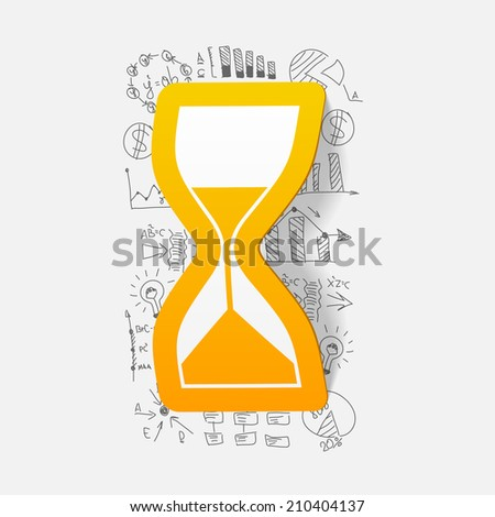 Drawing business formulas: hourglass