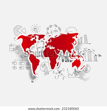 Drawing business formulas: map - stock vector