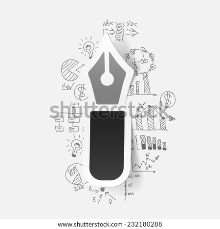 Drawing business formulas: pen - stock vector