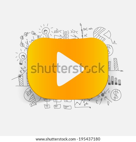 Drawing business formulas: start - stock vector