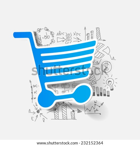 Drawing business formulas: trolley - stock vector