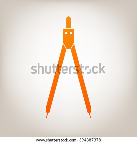 Drawing compass symbol for download. Vector icons for video, mobile apps, Web sites and print projects. - stock vector