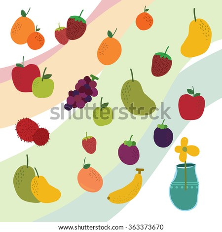 Drawing Fruit on background