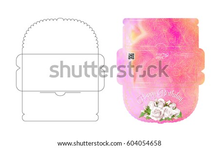 Envelope Template Flap Design Easy Fold Stock Vector 604054682