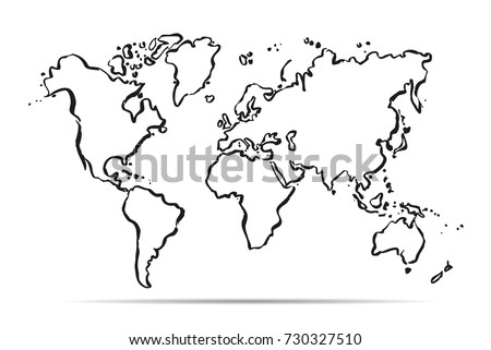 World map outline stock images royalty free images vectors drawing map of the world vector illustration gumiabroncs Choice Image
