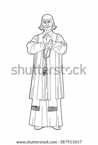 Drawing of a clergyman