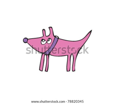 Drawing of a dog - stock vector