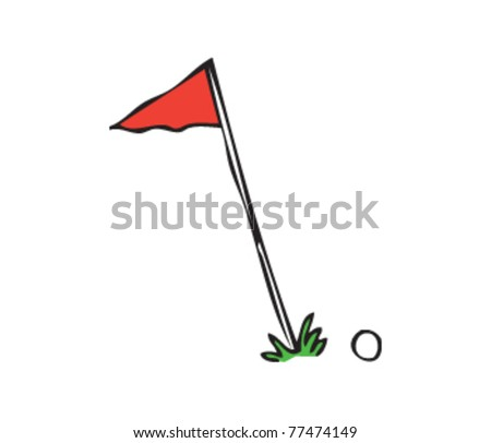Drawing of a flag and ball