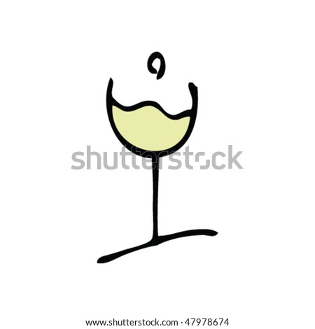 drawing of a glass of white wine