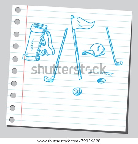 Drawing of a golf equipment