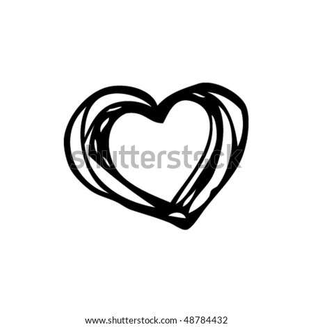 drawing of a heart - stock vector