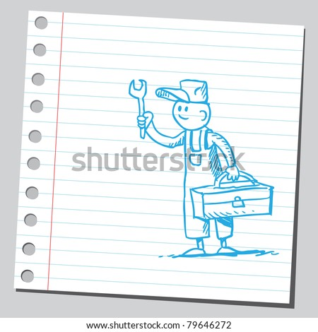 Drawing of a repairman