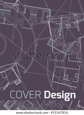 Drawing abstract architectural detail on flat stock vector 2018 drawing of abstract architectural detail on flat surface image of colorful blueprint for use as malvernweather Gallery