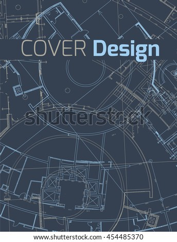 Drawing abstract architectural detail on flat stock vector hd drawing of abstract architectural detail on flat surface image of colorful blueprint for use as malvernweather Gallery