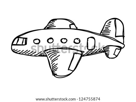 drawing of plane