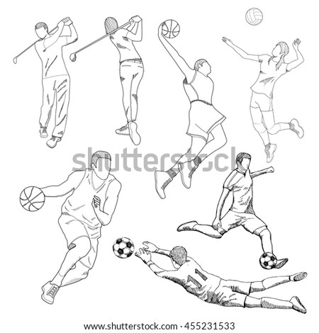 Drawing of sport element .Vector eps10