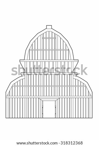 Drawing of the large greenhouse