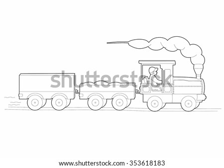 Drawing of the small train