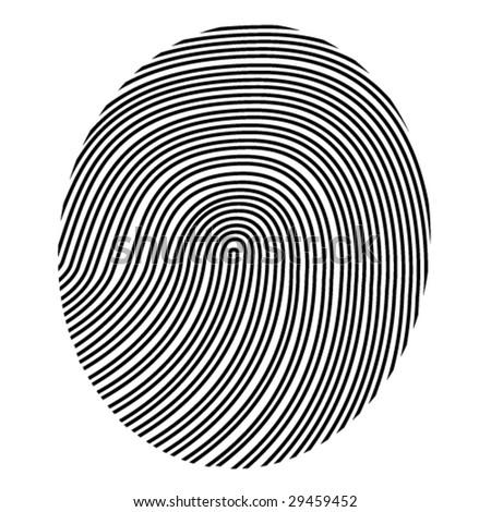 drawing vector fingerprint - stock vector