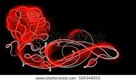 Drawing vector graphics with floral patterns with roses for design. Floral flower natural design. Graphic, sketch drawing. rose