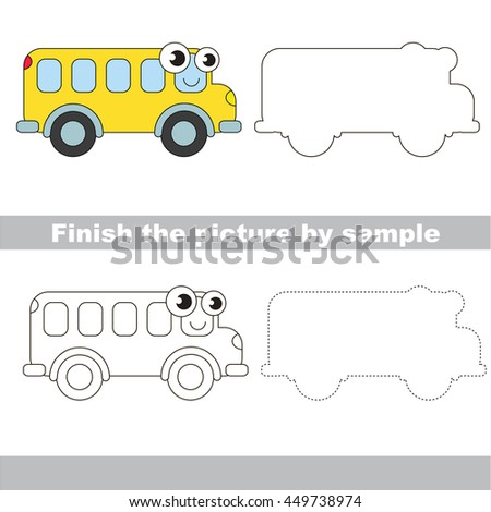car coloring worksheet dotted lines stock illustration 352800623 shutterstock. Black Bedroom Furniture Sets. Home Design Ideas
