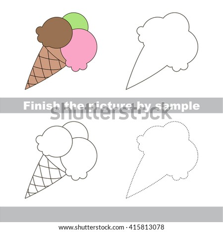 Drawing worksheet for children. Finish the picture and draw the cute ...