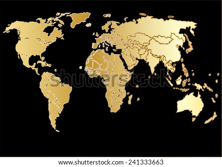 Drawings vector world map gold background stock vector 241333663 drawings vector world map gold background graphicsall elements are separated in editable layers clearly gumiabroncs Image collections
