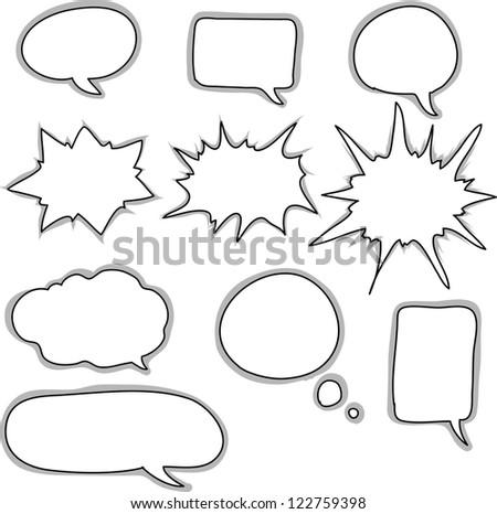 Drawn comic style talk - stock vector