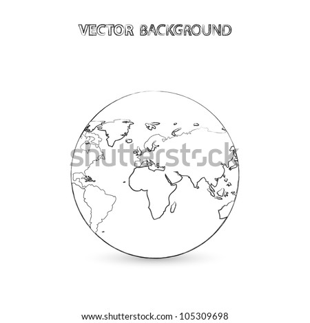 Drawn Earth Vector Background - stock vector
