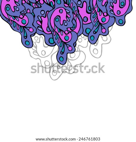 drawn manually colorful abstract background elements