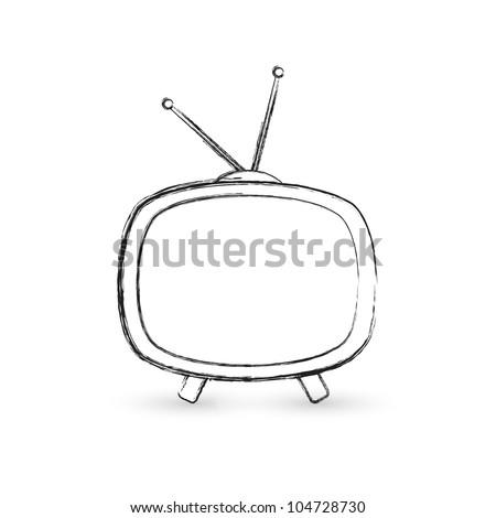 Drawn TV - stock vector