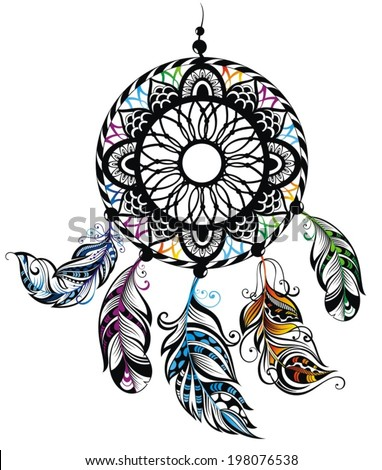 Dream Catcher, Protection, American Indians - stock vector