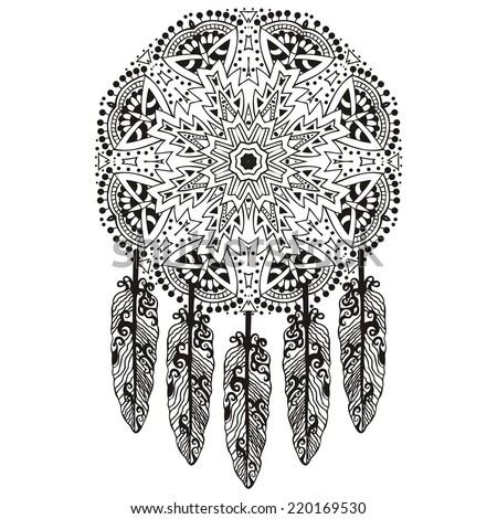 Dream Catcher, Protection, American Indians, stock vector  - stock vector