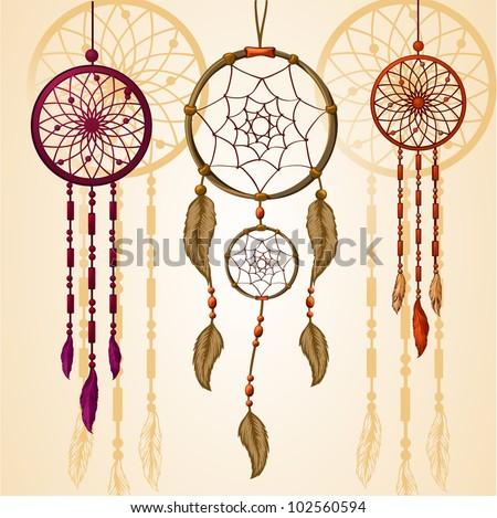 Dream Catcher Vector - stock vector